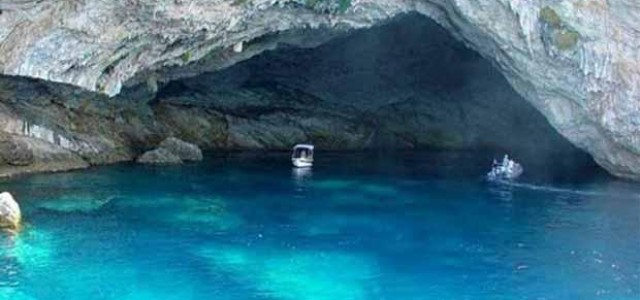 In Lefkada the largest marine cave in the world
